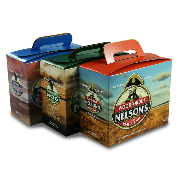 selection of three Your own choice from the range. Woodfordes Beer Making kits