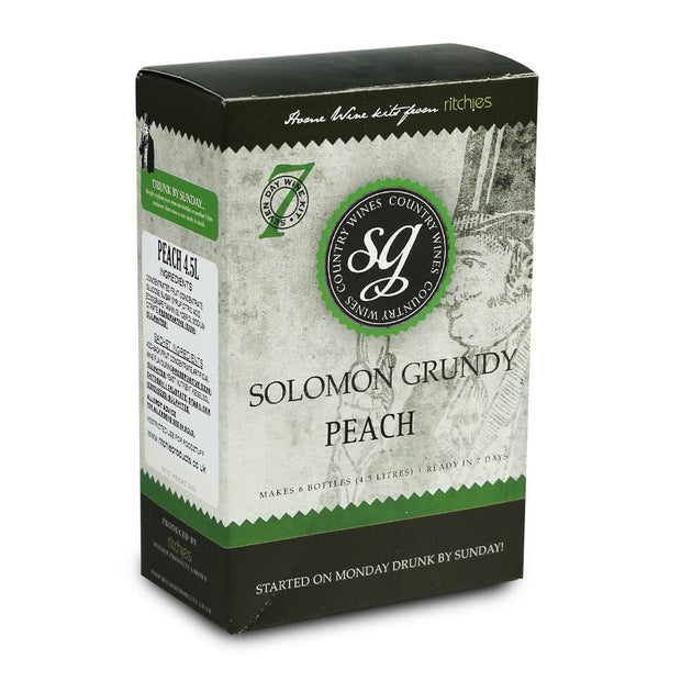 Solomon Grundy Country 6 Bottle 7 Day Wine Kit - Peach - Brew2Bottle