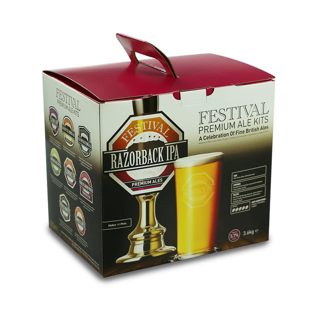 Festival 40 Pint Home Brew Beer Kit - Razorback India Pale Ale - Brew2Bottle Home Brew