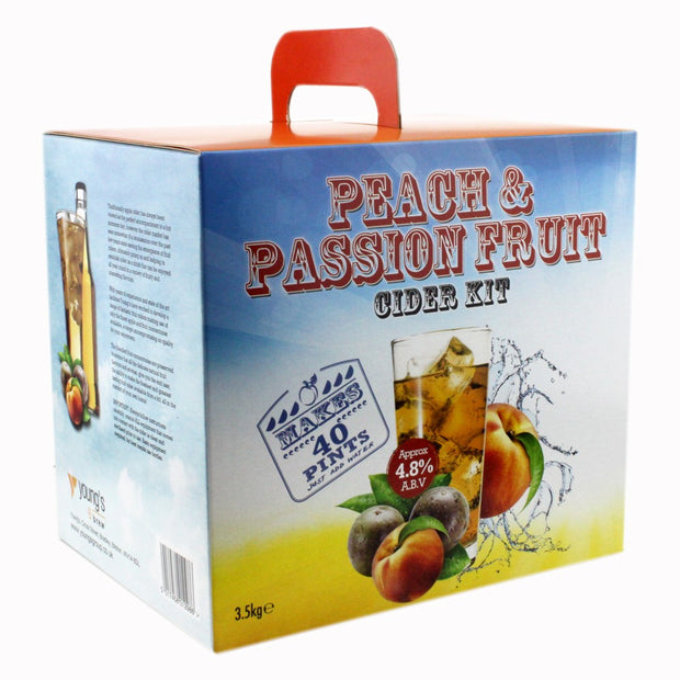 Youngs Premium 40 Pint Cider Kit - Peach & Passion Fruit - Brew2Bottle Home Brew