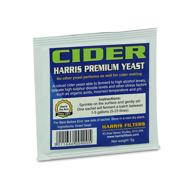 Harris Premium Cider Yeast - Brew2Bottle Home Brew