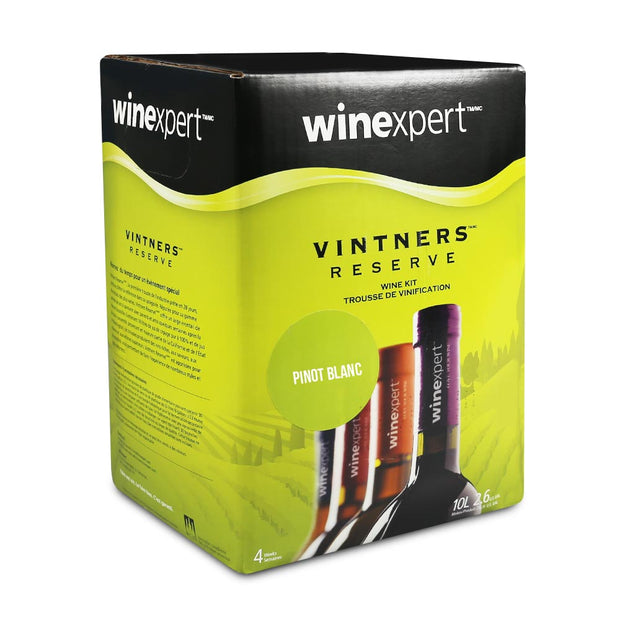 Winexpert Vintners Reserve 30 Bottle Red Wine Kit - Pinot Blanc - Brew2Bottle