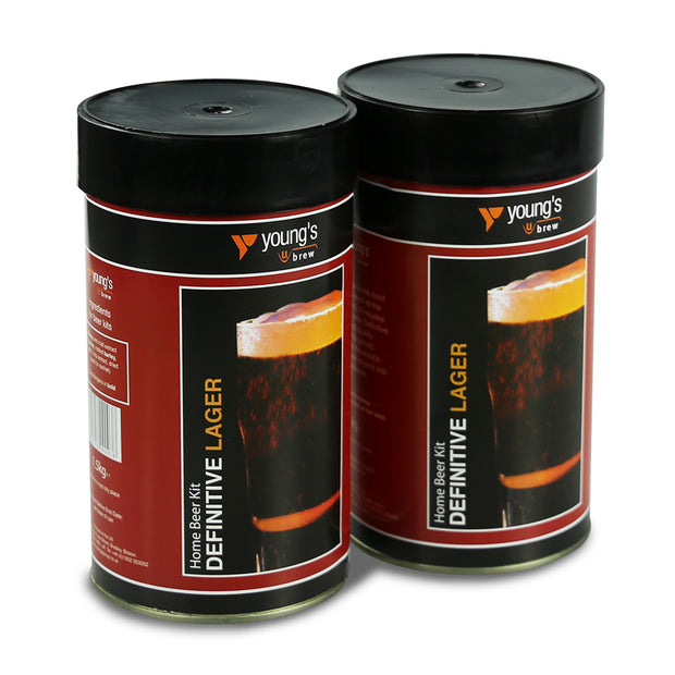 Youngs Definitive 40 Pint Beer Kit - Lager (2 Pack) - Brew2Bottle Home Brew