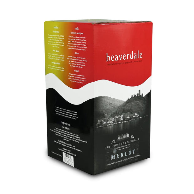 Beaverdale 23l 30 Bottle Red Wine Kit - Merlot - Brew2Bottle Home Brew