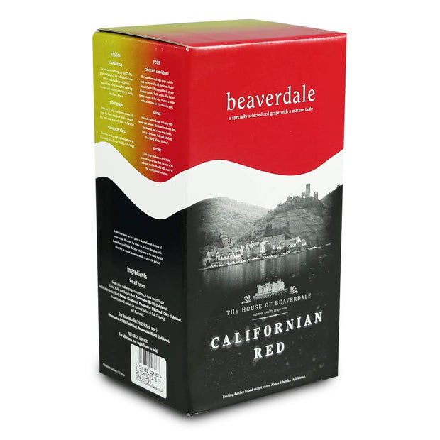 Beaverdale 4.5l 6 Bottle Red Wine Kit - Californian Red - Brew2Bottle Home Brew
