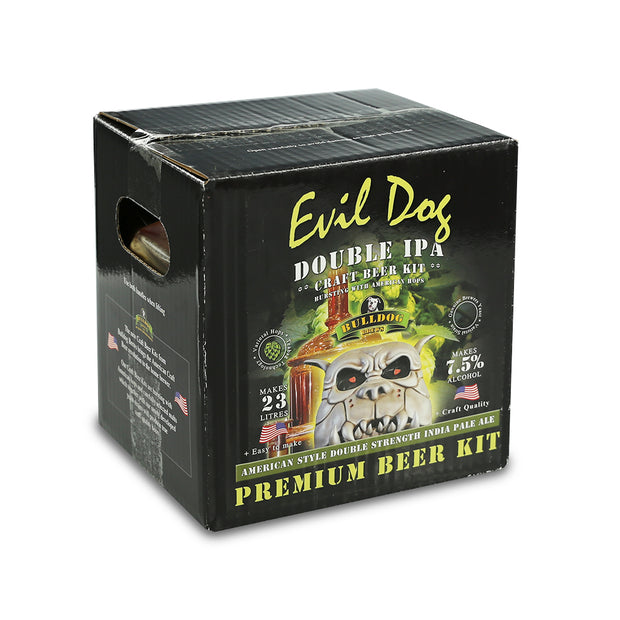 Bulldog Brews ABV 7.1% 40 Pint Beer Kit - Evil Dog Double IPA