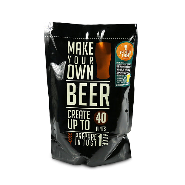 Make Your Own 40 Pint Premium Lager Beer Kit - Brew2Bottle Home Brew