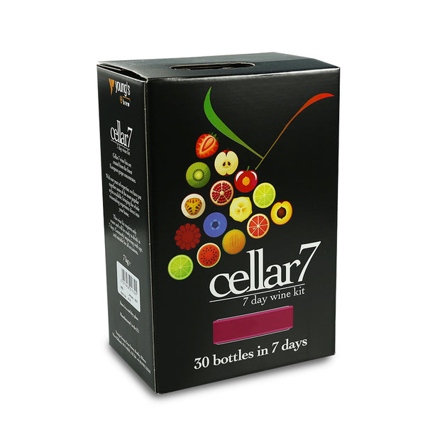 Cellar 7 Raspberry & Cassis 7 Day Red Wine Kit - 30 Bottle - Brew2Bottle Home Brew