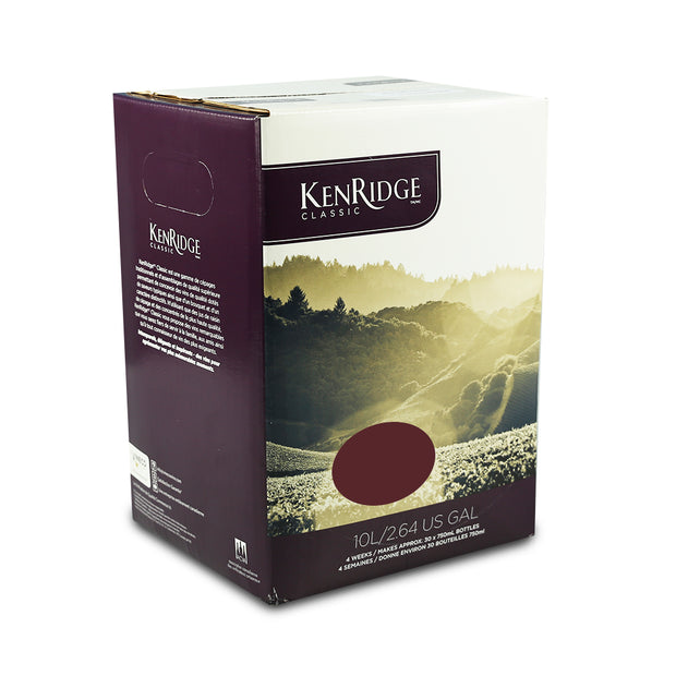 KenRidge Classic 30 Bottle 4 Week Cabernet Shiraz Red Wine Kit - Brew2Bottle