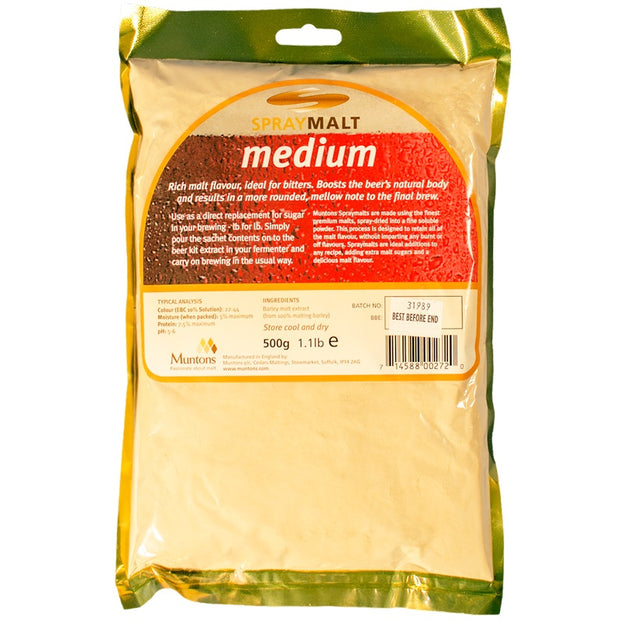 Muntons Medium Spraymalt 500g - Brew2Bottle Home Brew