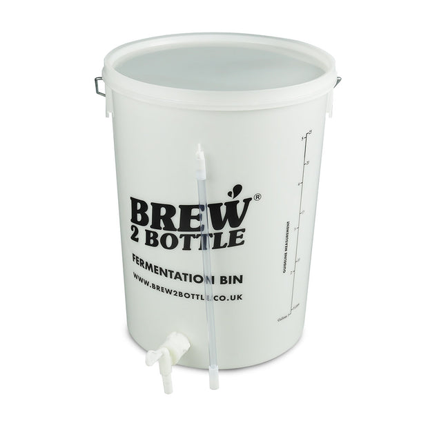 Brew2Bottle 25ltr Bored Bucket, Plain Lid & Spigot Tap with Bottling Stick - Brew2Bottle Home Brew