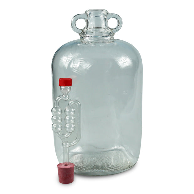 1 x 5ltr Glass Demijohn With Bung & Airlock - Brew2Bottle Home Brew