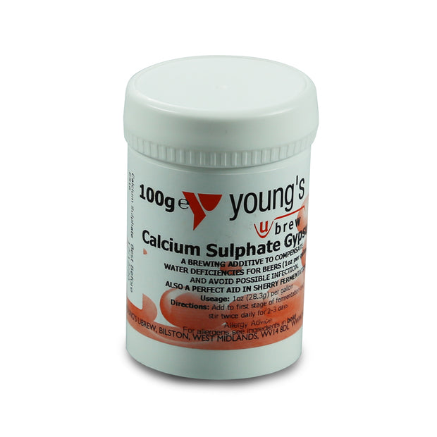 Youngs Calcium Sulphate Gypsum 100g - Brew2Bottle Home Brew