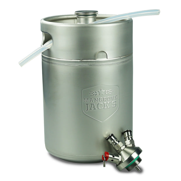 Mangrove Jacks Mini Keg 5L with Ball Lock Cap & Diptube - Brew2Bottle Home Brew