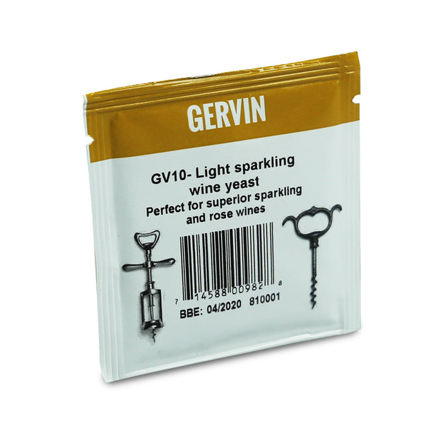 Gervin Yeast GV10 - Light Sparkling Wine - Brew2Bottle Home Brew