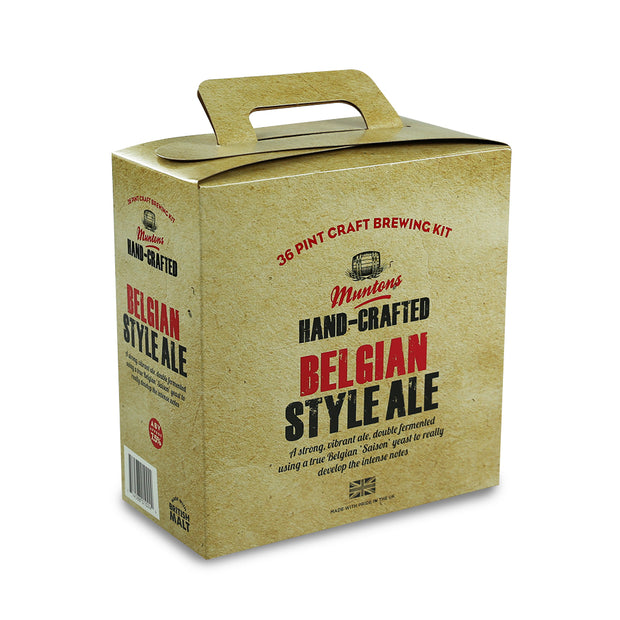 Muntons Hand Crafted 36 Pint Beer Kit - Belgian Style Ale - Brew2Bottle Home Brew