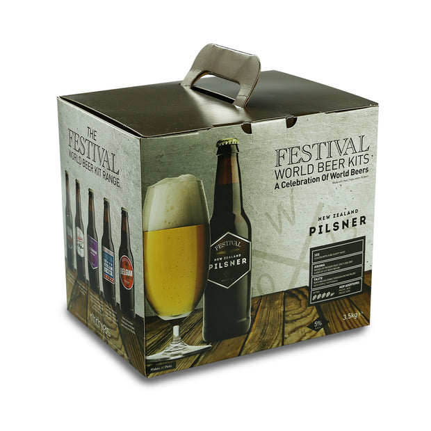 Festival 40 Pint Home Brew Beer Kit - New Zealand Pilsner - Brew2Bottle Home Brew