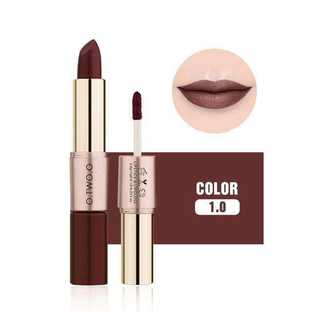 20 color matte lipstick lip liner 2 in 1 brand makeup lipstick matte durable waterproof nude red lipstick lips make up - HypeLooks