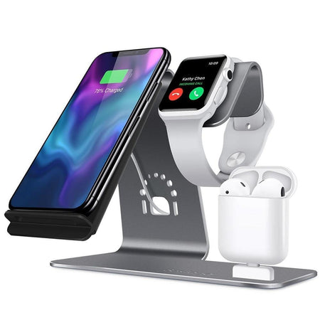 3 in 1 Wireless charging station uses the most advanced automatic control technology. - HypeLooks