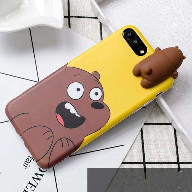 Lovely 3D comic cartoon, 3D cute design gives your phone a lovely look. - HypeLooks