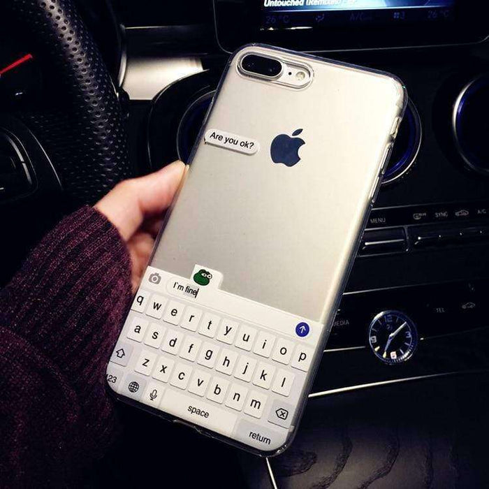 Are You Ok, Protect your iPhone against scratches,Soft corner material ,classy look - HypeLooks
