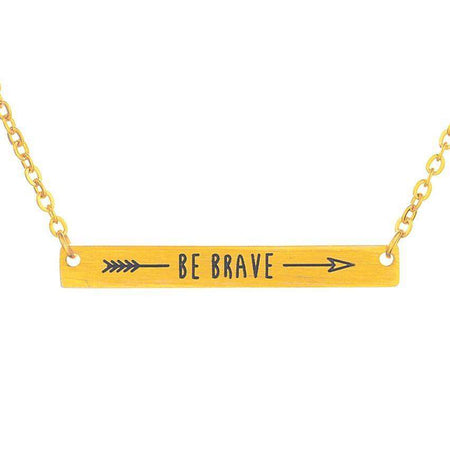 "Be Brave simple yet beautiful bracelet is stamped with the quote""be brave"" - HypeLooks"
