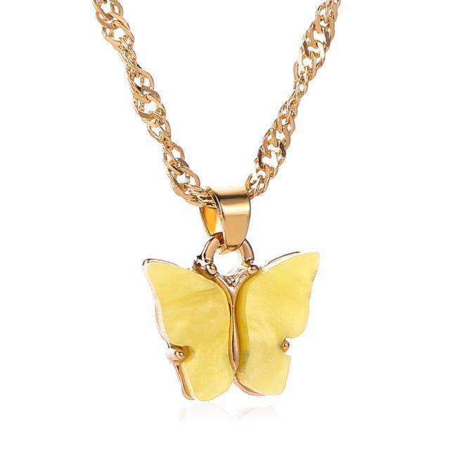 Butterfly pendant necklaces, necklace packaged with a delicate gift box,  hypoallergenic. - HypeLooks