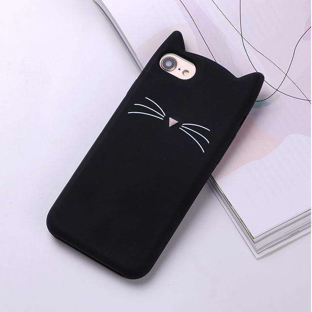 The Cat Cover Case is made of Soft Silicone Rubber which is Non-toxic, protects your phone - HypeLooks