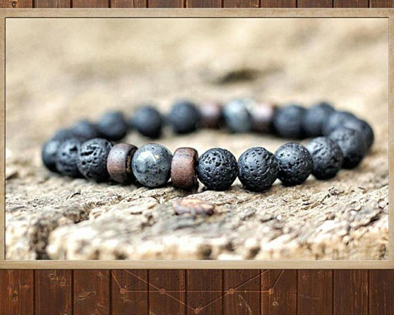 Classic 8mm Lava Stone  bead bracelet and unisex design, perfect bracelet jewelry - HypeLooks