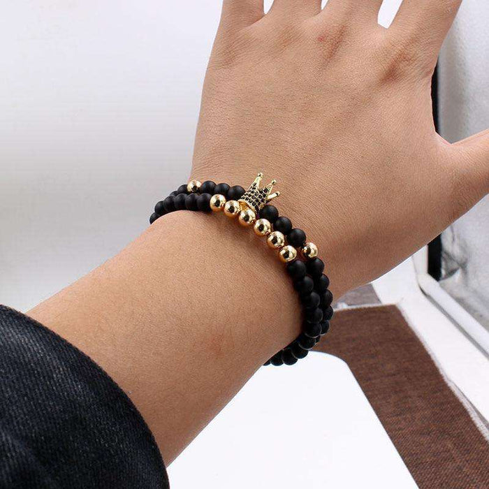 University Trends Latest Collection Leather Charm Friendship Multi-Strand Bracelet for Men and Boys - HypeLooks