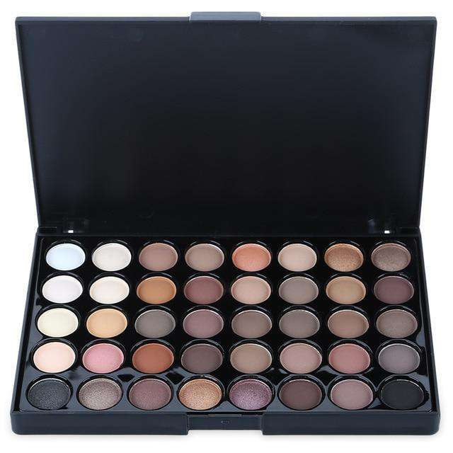 Gliltter Eyeshadow Palette Matte , multi Colors Nude Shimmer Long Lasting Eye Shadow Powder Makeup Cosmetic - HypeLooks