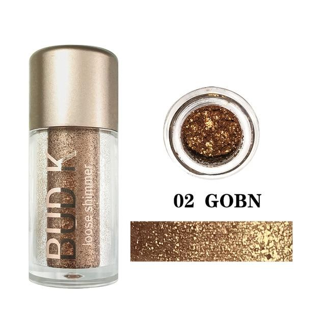 Grey Blue Glitter Eye shadow Powder Waterproof,Beauty Makeup Cosmetic Eye Shadow - HypeLooks