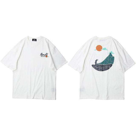 Great Wave Men's Graphic T-Shirt - Rugged Outdoor Collection - HypeLooks