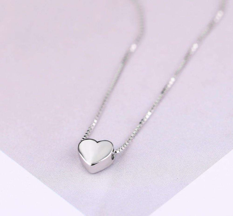 Heart Necklaces Heart Pendant Simple Choker Heart Pendant Necklace for women and girls - HypeLooks