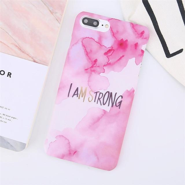 I Am Strong Quote TPU Rubber Silicone Phone Case Back Cover for Apple iPhone 8 Plus and iPhone 7 Plus - HypeLooks