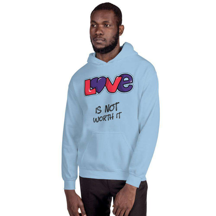 LOVE Unisex Hoodie Unisex Sweatshirt Round High Neck Pullover Casual Printed Love Yourself Hoodie - HypeLooks