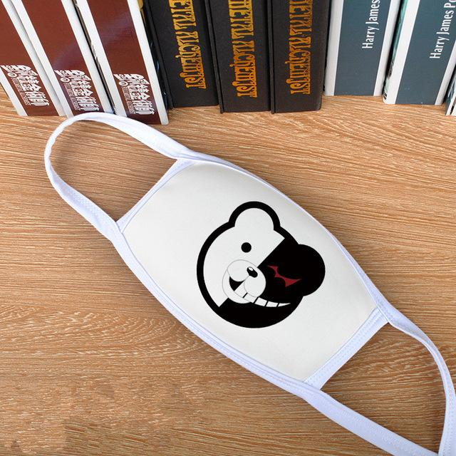 Anime Danganronpa monokuma Cosplay Face Mask Breathable prop New masks Un-speak able Anti-Dust Anti-Pollution Windproof Cover - HypeLooks