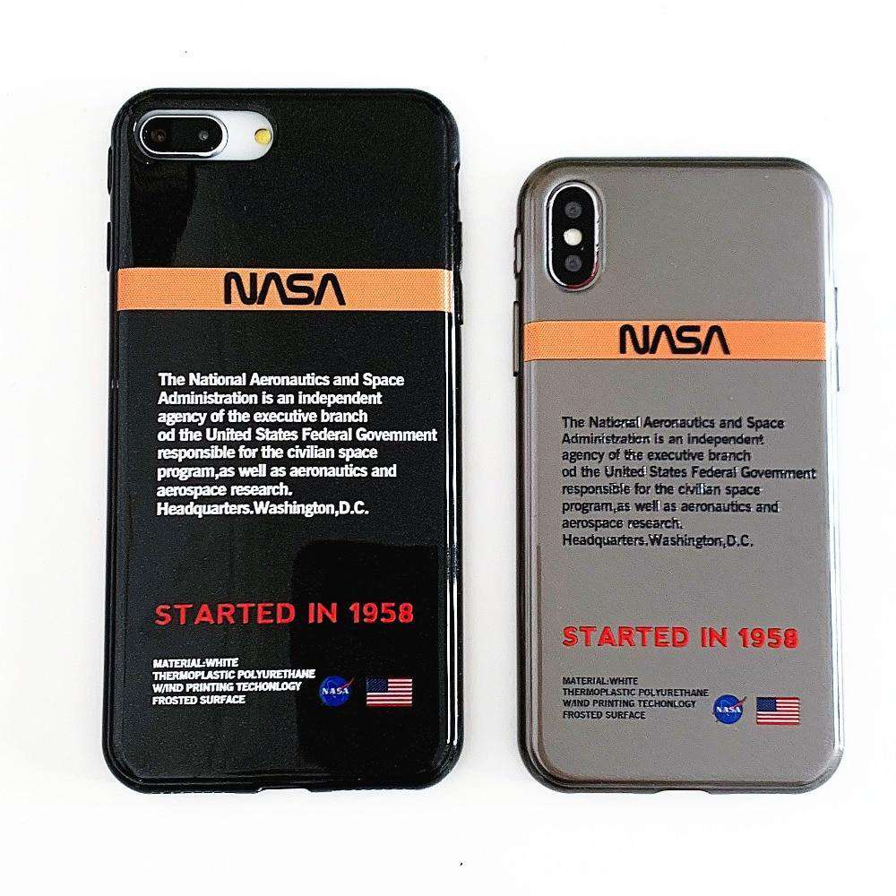 Awesome Cool Scientist NASA Logo Design with Black Background Latest Printed Hard Mobile Back Cases and Phone Covers - HypeLooks