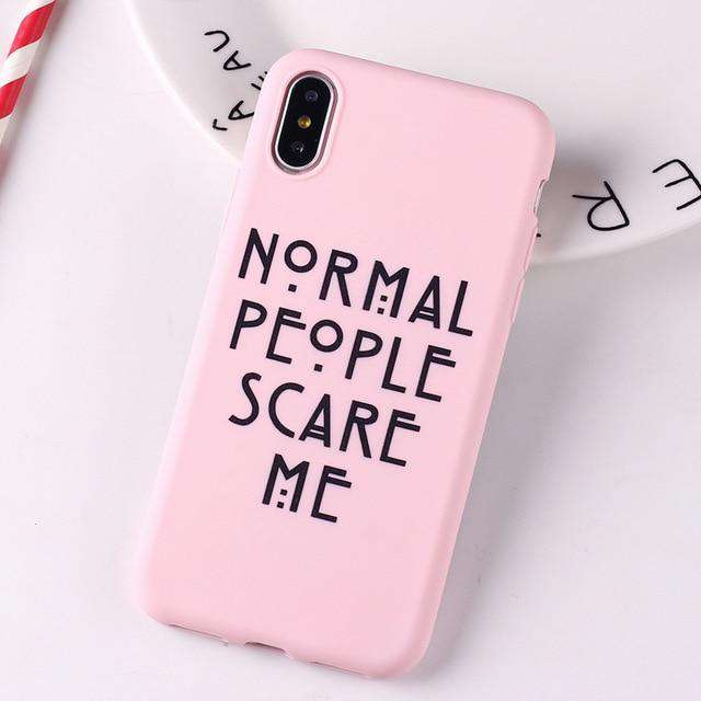 normal people Jamular Normal People Scare Me for Iphone X XS MAX XR 8 7 6 6S 11 Pro Max Plus Soft Silicone Back Cover - HypeLooks