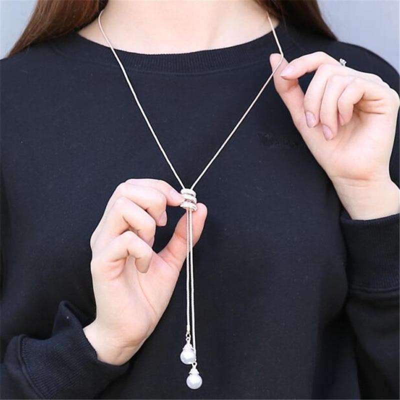 Pearl Crystal Gold Crystal Stone Timeless Pendant Chain for Women - HypeLooks