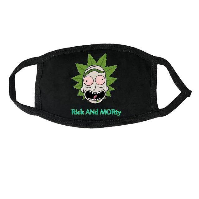 Anime Rick And Morty Mascarillas Mask  Costume Accessories Unisex Face Mask Cartoon Dustproof Mouth Mask - HypeLooks