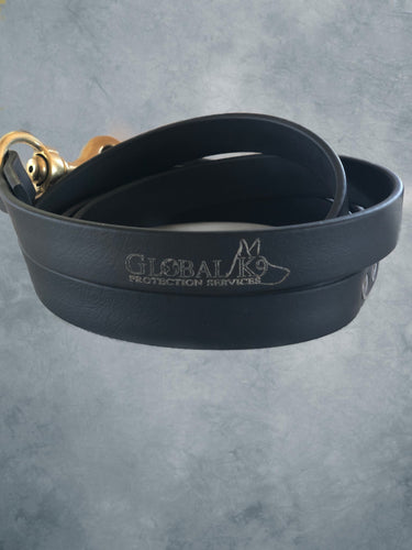 Synthetic Leather Leash w/Global K9 Logo