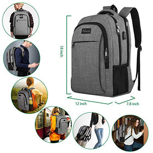 c370a6a15 Travel Laptop Backpack,Business Anti Theft Slim Durable Laptops Backpack  with USB Charging Port,