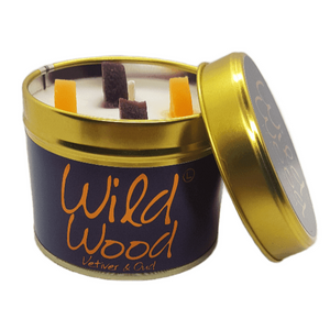 Lily Flame Wild Wood Candle Tin