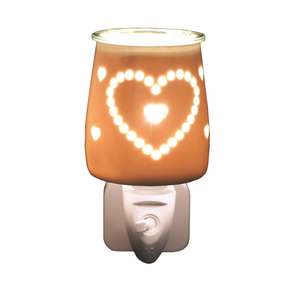 Ceramic Heart Plug in Electric Wax Burner
