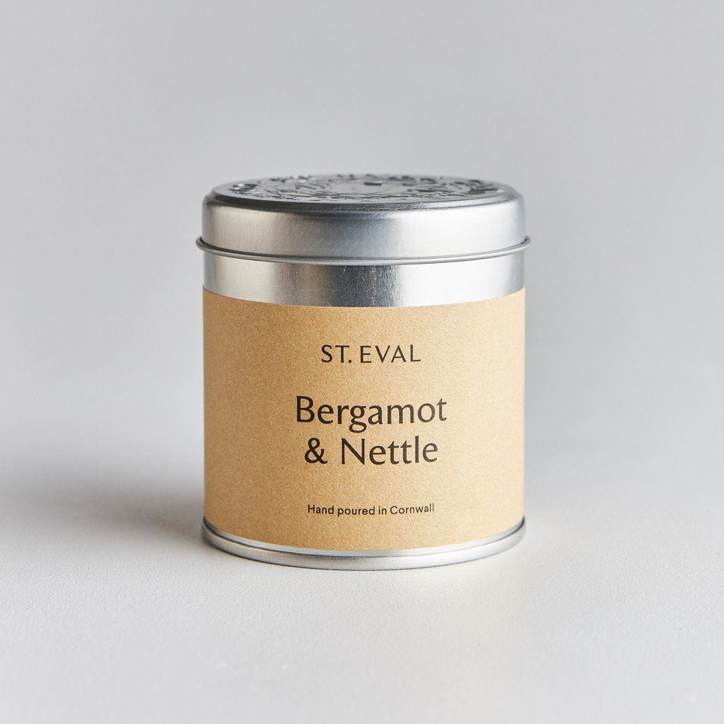 Bergamot & Nettle Scented Candle Tin by St Eval