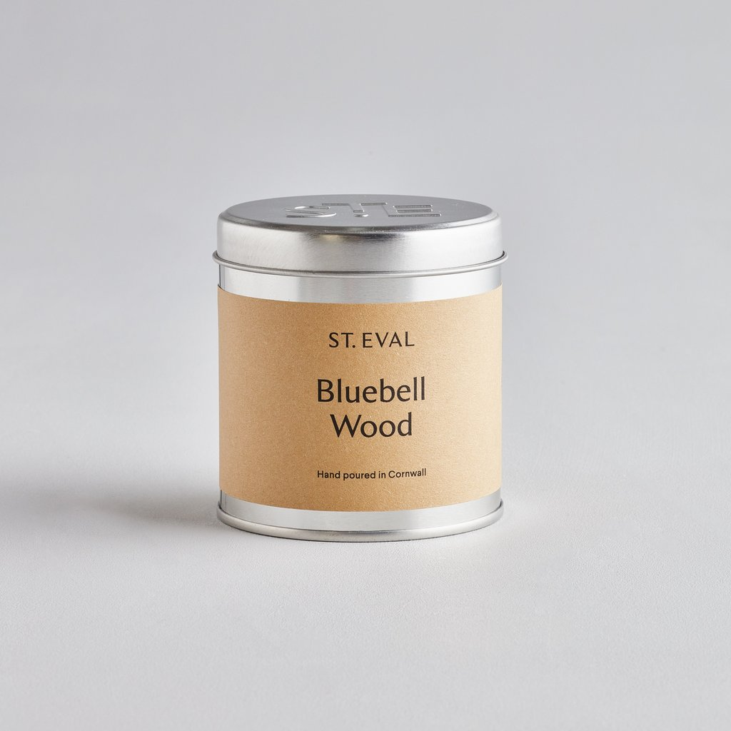 Bluebell Wood Scented Candle Tin by St Eval