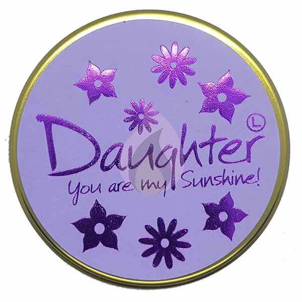 Lily Flame Daughter Candle Tin