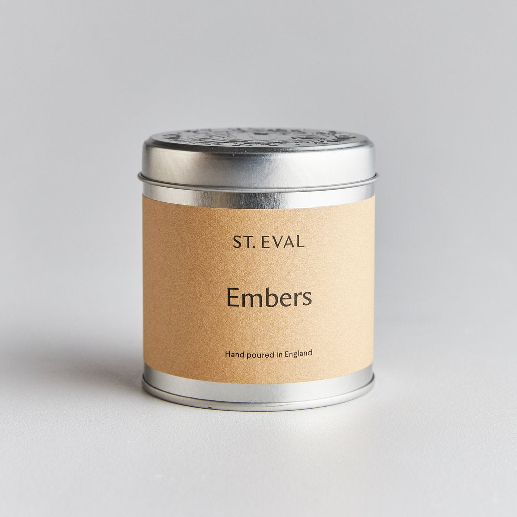 Embers Scented Candle Tin by St Eval