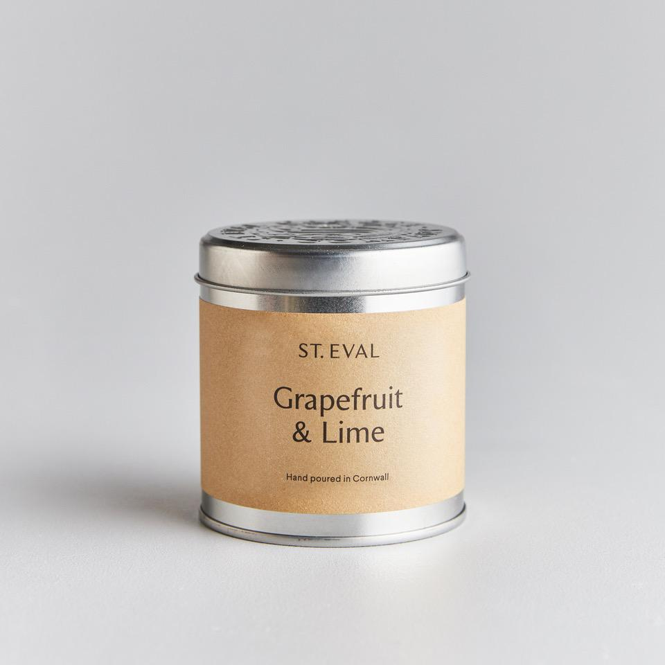Grapefruit & Lime Scented Candle Tin by St Eval